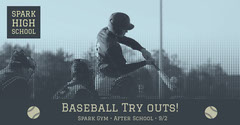 Baseball Try outs! After School