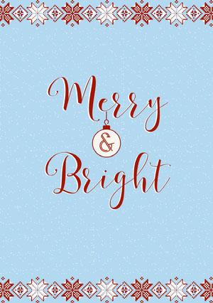 merry & bright holiday card 크리스마스 카드
