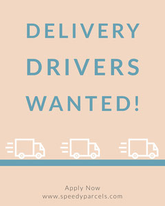 Blue Delivery Drivers Wanted Instagram Portrait  Now Hiring Flyer