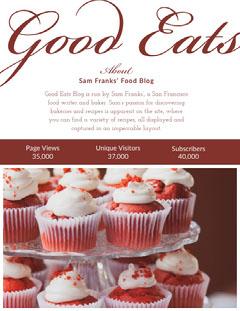 Maroon Food Blogger Media Kit with Cupcakes Cupcake