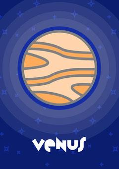 Planets - Venus Flashcard Education