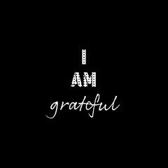 i am grateful instagram  Black And White