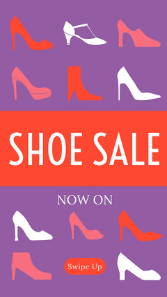 Violet and Orange Shoe Sale Social Post Shoes