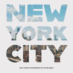 Typography New York City Tour Travel Instagram Square  Typography Poster