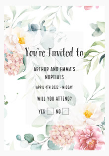 Flower Wedding Invitation Invitation