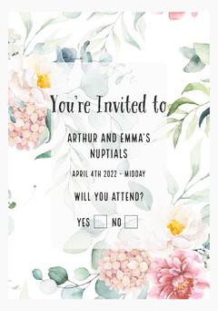 Flower Wedding Invitation Weddings