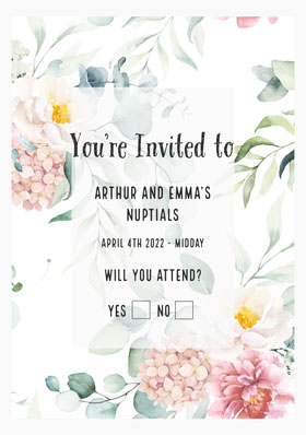Colorful Flower Wedding Invitation Card Save the date-kaart