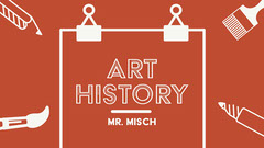 Red Line Icon Art History Presentation Cover  Art