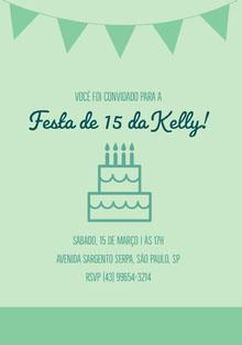 Festa de 15 da Kelly! Convite