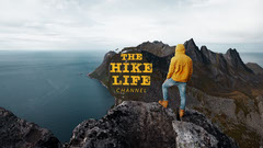 Ocean Yellow Hike Life Youtube Channel Art Hike