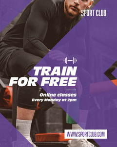 Train For Free Instagram Portrait  Gym