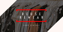 Black and Red Reuse Clothing Facebook Post Shopping