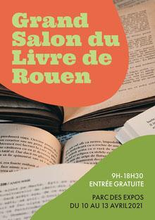 Brown Books And Orange Circle Book Fair Poster Affiche