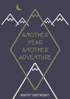 Another Year Another Adventure Birthday Card Adventure
