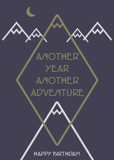 Another Year Another Adventure Birthday Card COVID-19-Geburtstagskarten