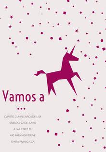 pink confetti unicorn birthday cards  Tarjeta de cumpleaños
