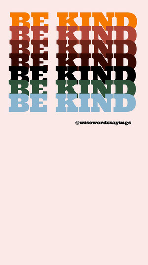 Multicolored Typography Kindness Phrase Instagram Story Typography Poster