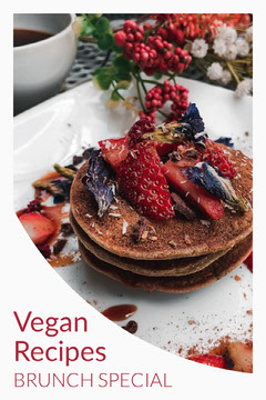 White and Red Vegan Brunch Recipe Pinterest Brunch