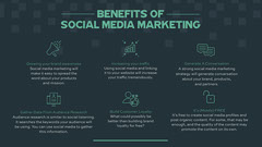 Navy & Green Social Media Benefits Infographic Social Media Flyer