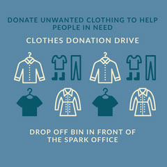 CLOTHES DONATION DRIVE Instagram Flyer
