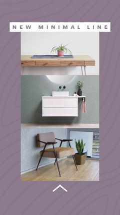 White & Purple Minimal Furniture Instagram Story Furniture Sale