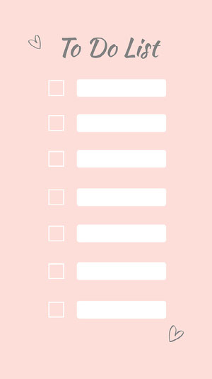pink white to do list Instagram story  To Do List