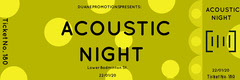 Yellow Spotted Acoustic Concert Ticket Concert Ticket