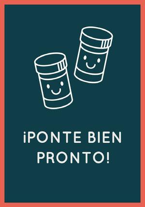 pill bottles get well soon cards  Tarjeta de recupérate pronto