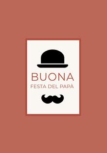 top hat and mustache Father's Day cards Biglietti elettronici per la festa del papà