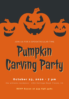 Halloween Pumpkin Craving Party Invitation Halloween Party Invitation