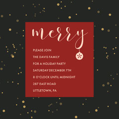merry snow holiday party invite igsquare Holiday Party Flyer