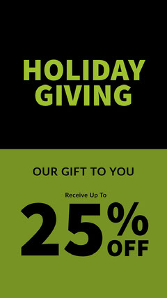 Green and Black Minimalistc Holiday Promo Ad Instagram Story Holiday Sale