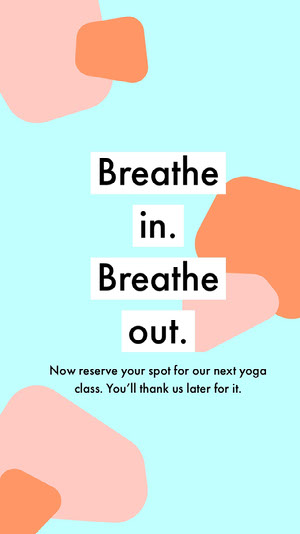 Blue and Pink Color Yoga Class Ad Instagram Story Yoga Posters