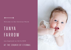 Tanya Farrow Baptism