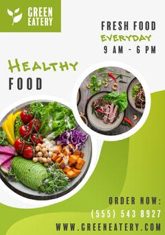 Green Eatery Restaurant Food Flyer