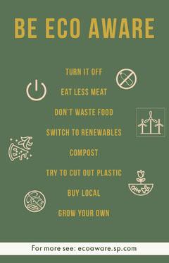 Eco Aware Flyer  Green