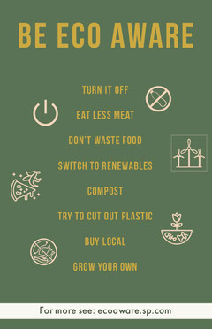 Eco Aware Flyer  Food Flyer