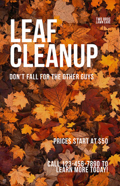 Modern Fall Lawn Care Business Flyer Fall