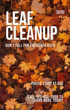 Modern Fall Lawn Care Business Flyer Autumn