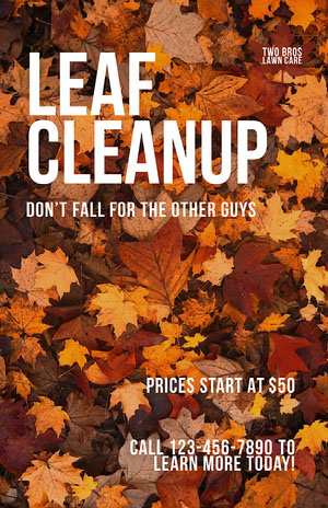 Modern Fall Lawn Care Business Flyer Lawn Care Business Flyer