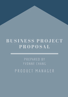 Blue Business Project Proposal Forslag