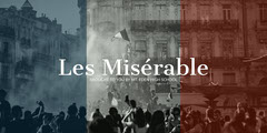 France Flag Colors Monochrome Les Miserable Play Ad Facebook Banner France