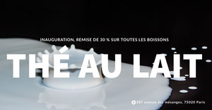 milk tea discount banner ads Taille d'image sur Twitter