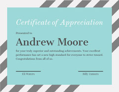 Hair Stylist Certificate of Appreciation Educational Course