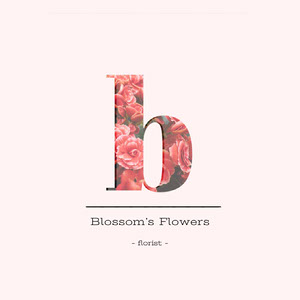Florist Logo Instagram Post with Large Letter Logo com letras