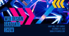 Blue Web Design Graduate Show - Facebook Post Designer