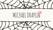 Spider and Cobweb Halloween Party Place Card Festa di Halloween