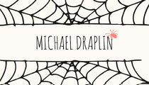 Spider and Cobweb Halloween Party Place Card Scary
