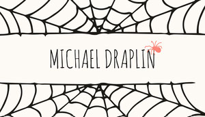 Spider and Cobweb Halloween Party Place Card Tarjetas para mesas de invitados