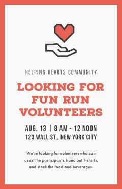 Looking for Volunteers Poster Food Flyer